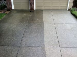 Using Pressure washer wile driveway cleaning
