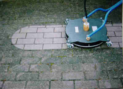 Tips on how to clean your concrete driveway houston for Pressure wash concrete patio